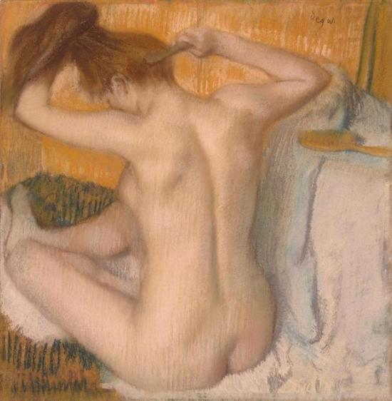 Edgar Degas, Woman Combing her Hair (1885) (Photo: Hermitage via Wikimedia Commons)