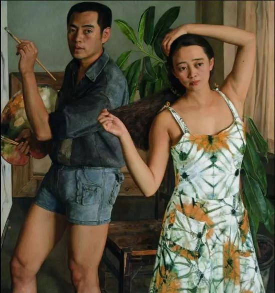 杨飞云那时我们正年轻125cm×115cm1991年
