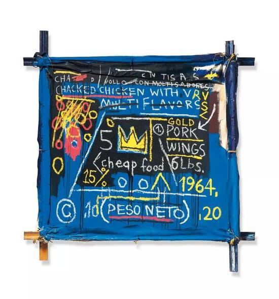 让·米歇尔·巴斯奎特 《Multiflavors》压克力 油彩棒 画布 木材支撑 1982年作
