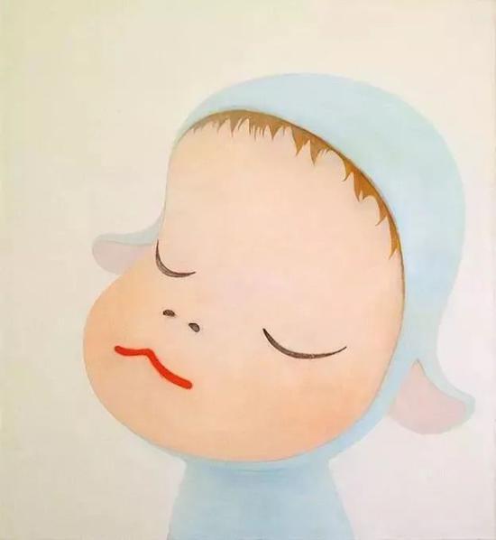 奈良美智《Blue sheep》,1999年
