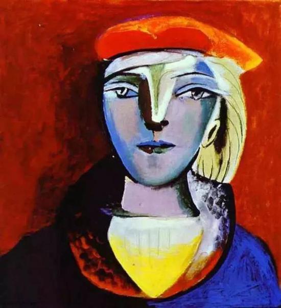 毕加索为玛丽·泰瑞莎创作的画像