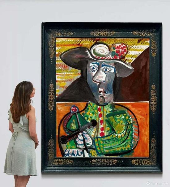 毕加索晚年作品《斗牛士》以1652.15万英镑成交,位列本场第二