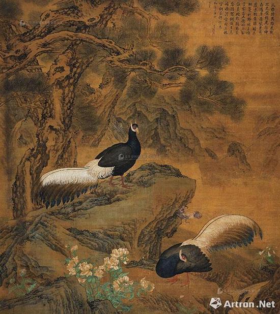 郎世宁&金廷标 《火鸡图》7130万元成交