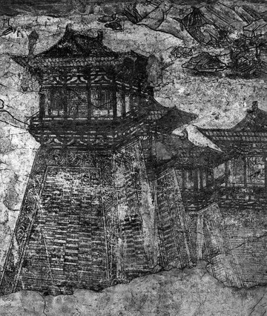 《阙楼仪仗图》壁画唐代高超建筑艺术的见证