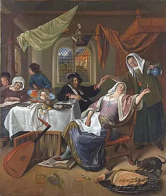 放荡的家庭 布面油画 1663–1664年