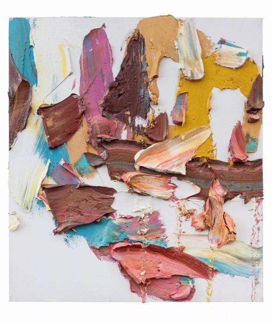 朱金石,《飞二》,布面油画,180 x 160 cm,2017