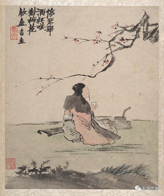 金农 墨戏图册 28.6 x23.8厘米 美国大都会艺术博物馆藏