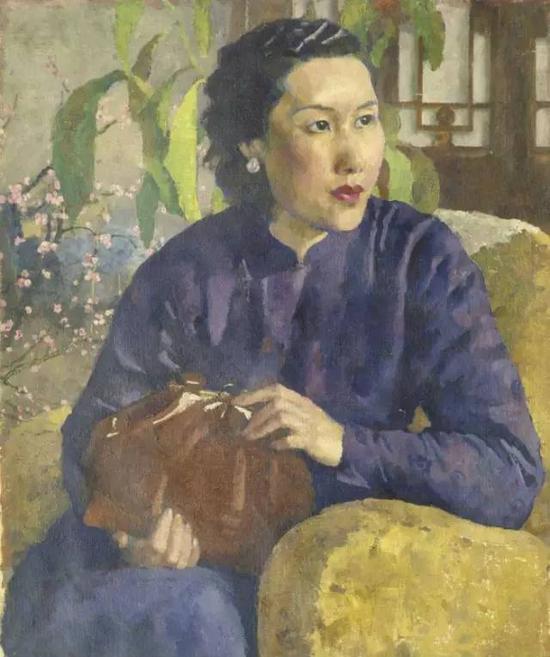 徐悲鸿画第二任妻子廖静文1947年布面油画,67cm×54cm,中国美术馆藏