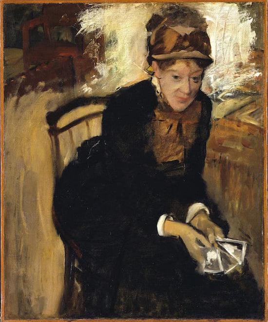 《玛丽・卡萨特》,埃德加・德加,1880-1884