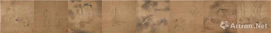 罗聘 《鬼趣图》卷 绢本设色   纵 41.5cm 横 1246cm