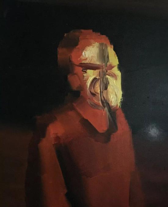 林枞,《友人》,布面油画,50 x 60 cm,2017
