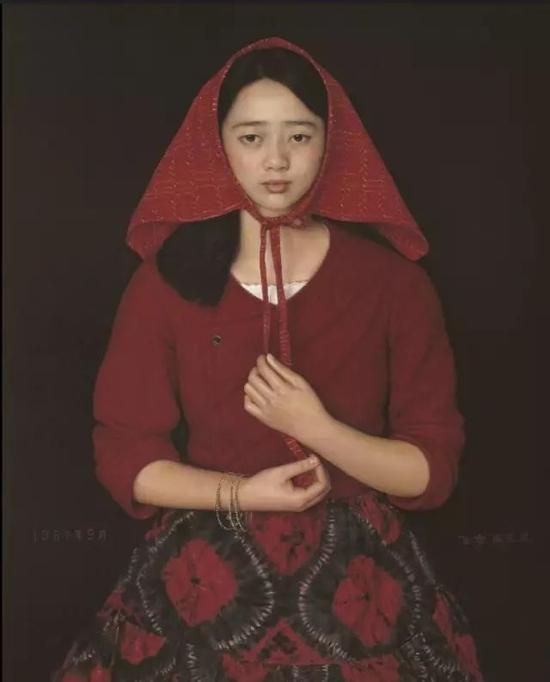 杨飞云北方姑娘80cm×70cm 1987年