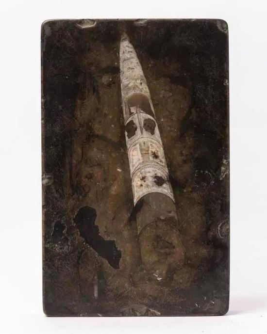 震旦纪角石砚(汤贻汾曾用砚·明)25.7x16.2x4.8cm