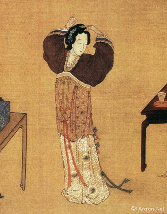 仇英《千秋绝艳图》局部:古代美女之唐代才女步非烟