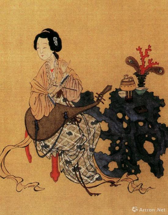 仇英《千秋绝艳图》局部:中国古代美女之宋代才女罗惜惜