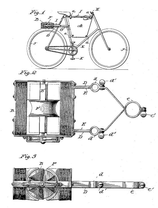 ▲1899年,约翰·施耐普(John Schnepf),后轮摩擦式电机