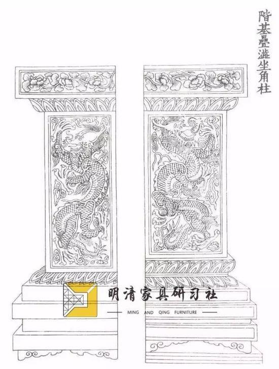 宋李诫著《营造法式》石雕须弥座图样(1091)