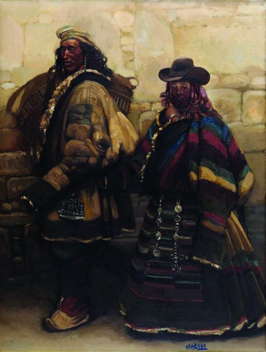 陈丹青 1985年 进城 布面 油画