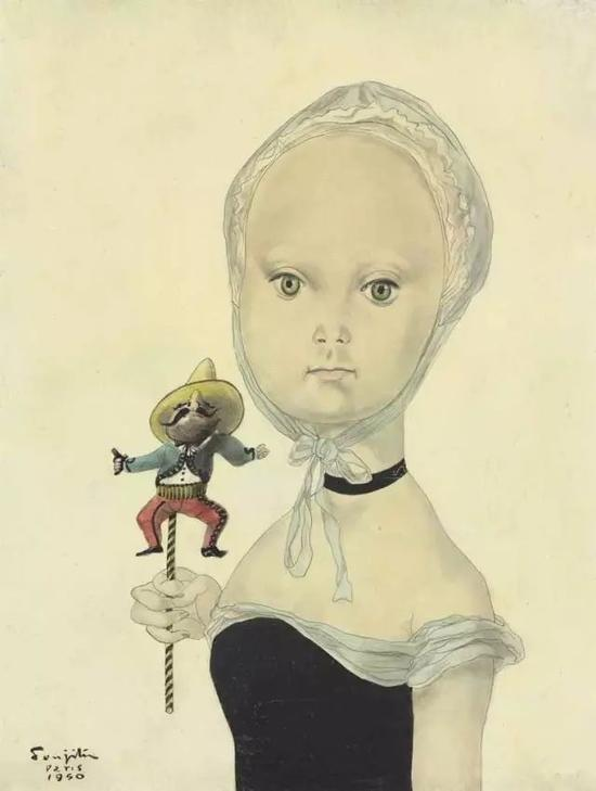 拿着墨西哥木偶的女孩 1950