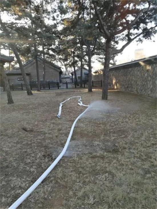 消防水带漏水严重,无法正常使用