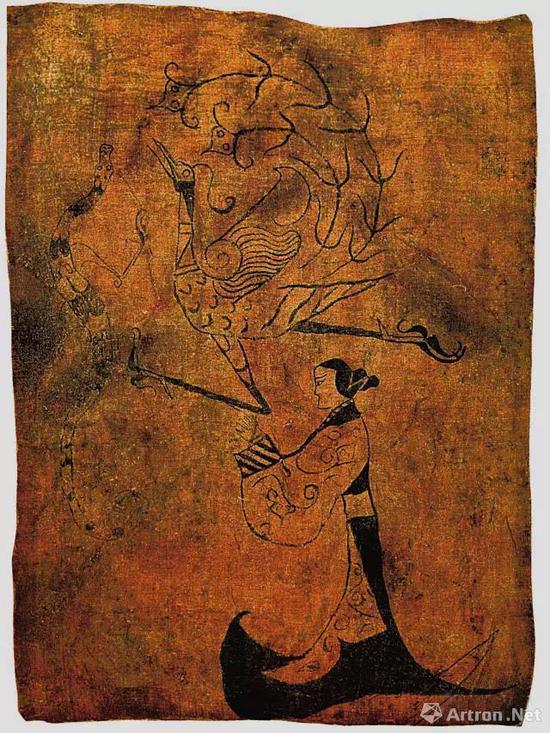 《人物龙凤帛画》
