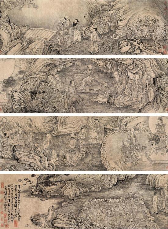 在北京拍卖的《莲社图》长卷