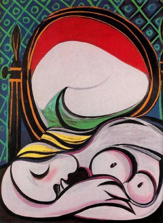 《镜子》(The Mirror),1932年,毕加索