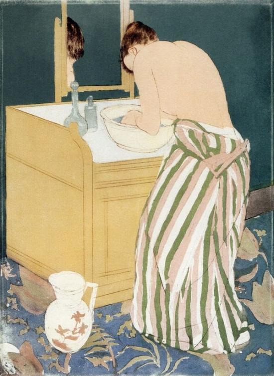 Mary Cassatt, Woman Bathing (1890-1891) (Photo: National Gallery of Canada via Wikimedia Commons)