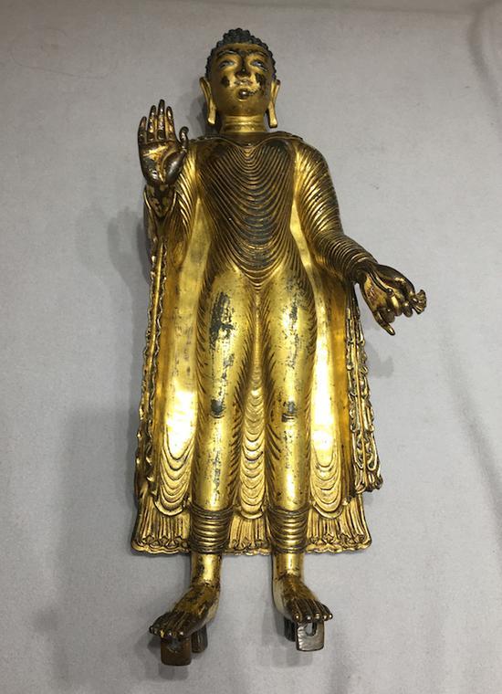 公元八世纪的克什米尔风格的释迦摩尼像