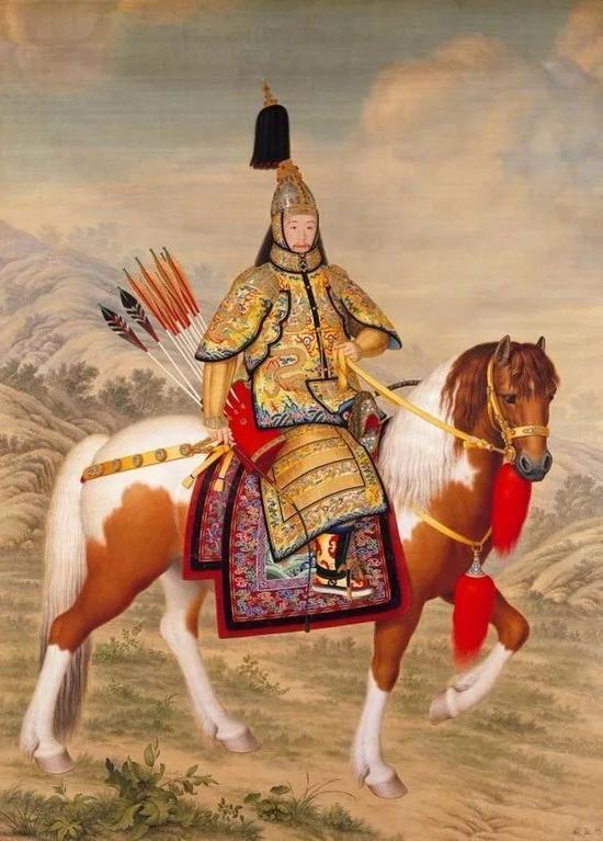 《乾隆骑马图》