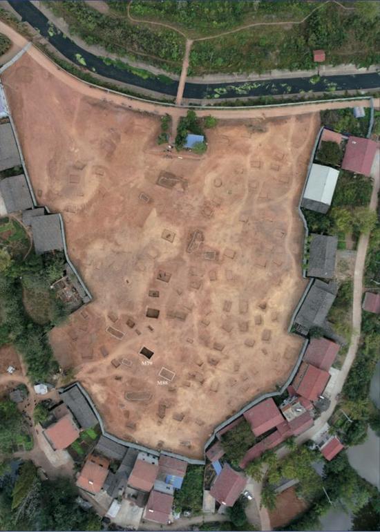 湖北苏家垄遗址俯瞰图。(社科院考古所供图)
