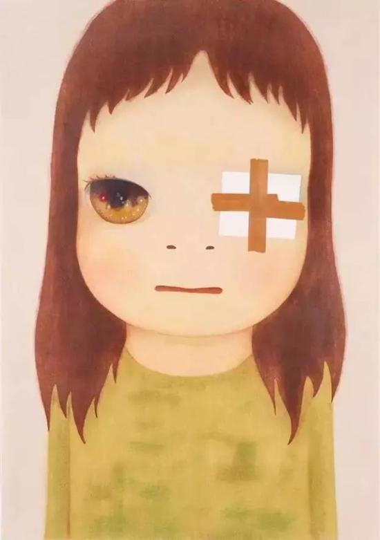 奈良美智笔下的小女孩有了大眼睛,他开始和世界和解