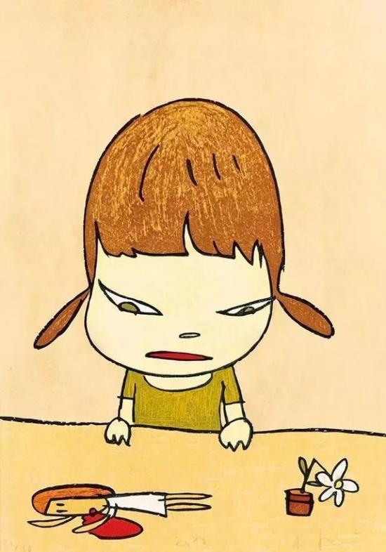 大头小女孩是奈良美智作品中辨识度极强的形象