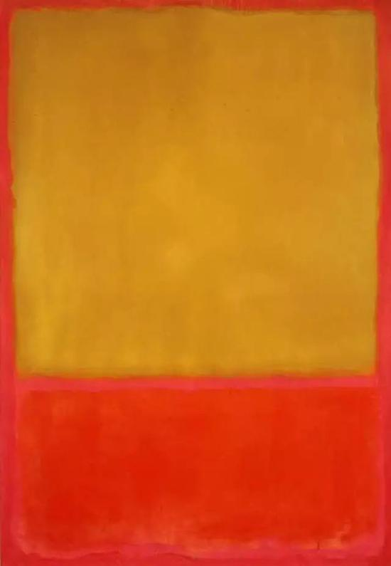 Ochre and Red on Red,1954. 马克·罗斯科