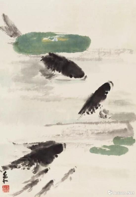 蒋兆和 《鱼戏》 63.25万元成交 中国嘉德2017年秋拍
