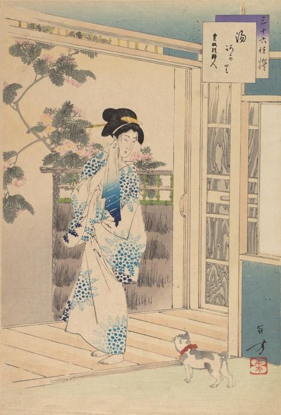 Toshikata Mizuno, After the Bath: Woman of the Kansei Era (1893) (Photo: The Metropolitan Museum of Art via Wikimedia Commons)