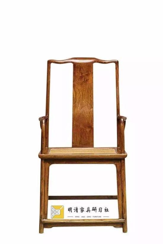 黄花梨南官帽椅