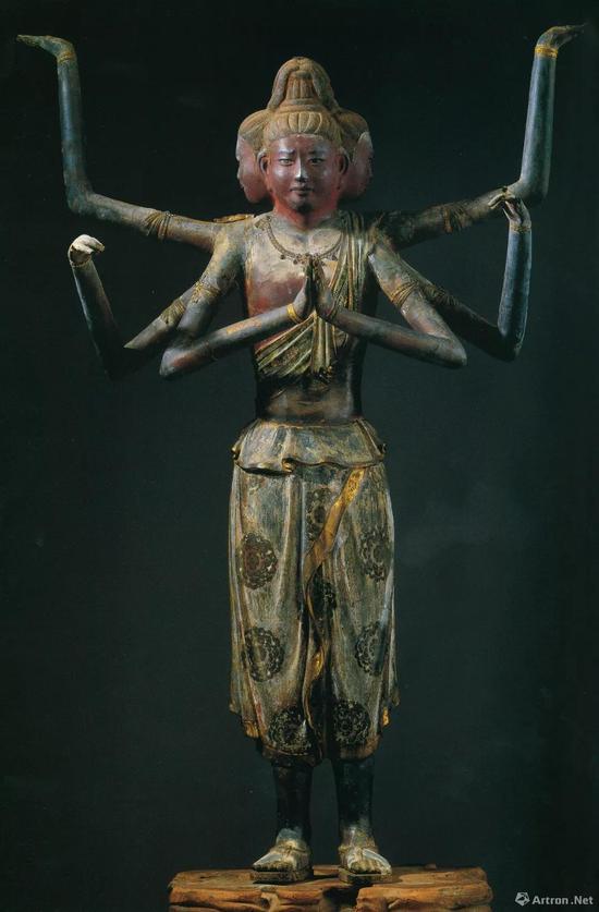 阿修罗像,奈良时代,脱活干漆上彩,高153.4 厘米,日本国宝,奈良兴福寺藏