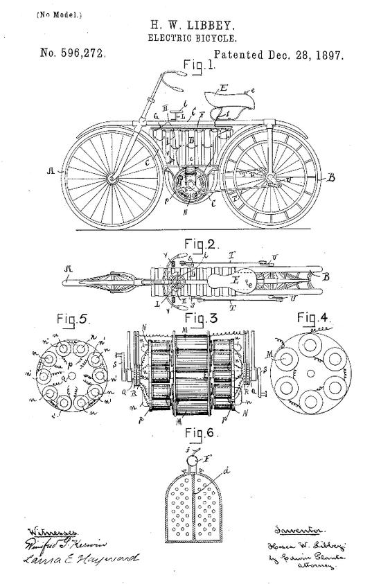 ▲1897年,何西阿·W·利比(HoseaW.Libbey),最早的中置电机