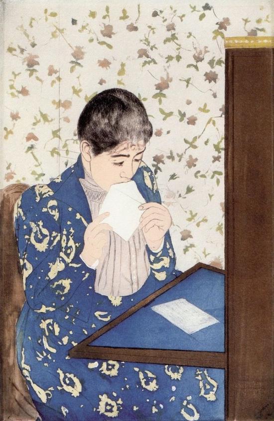 Mary Cassatt, The Letter (1890-1891) (Photo: Kathleen via Wikimedia Commons)