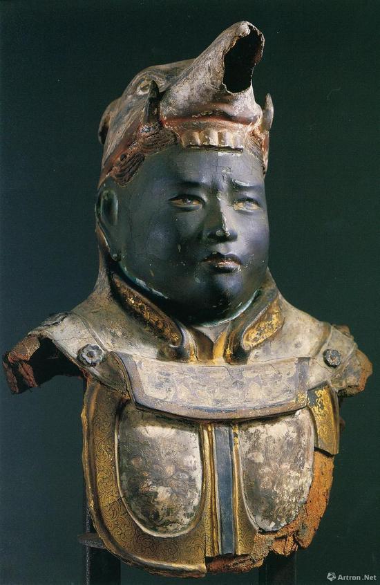 五部净像,奈良时代,脱活干漆上彩,残高50 厘米,日本国宝,奈良兴福寺藏