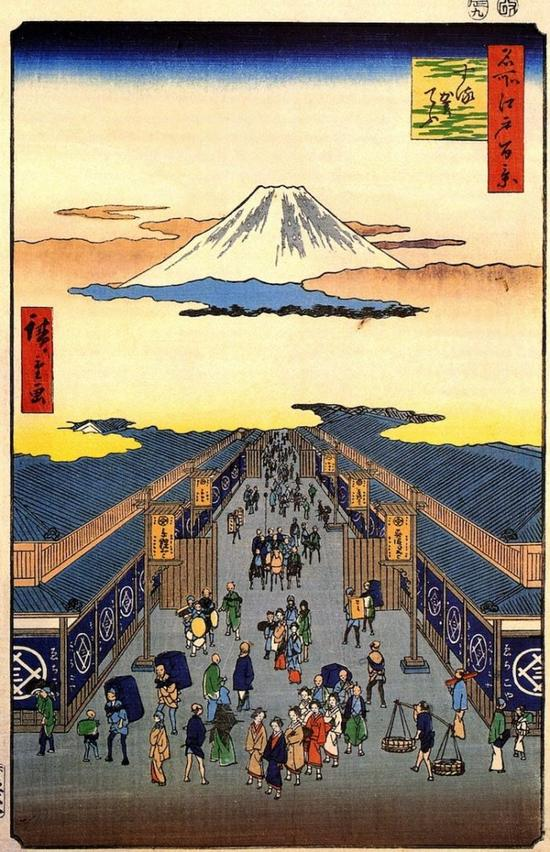Hiroshige, Sugura street (1836) (Photo: Visipix via Wikimedia Commons)