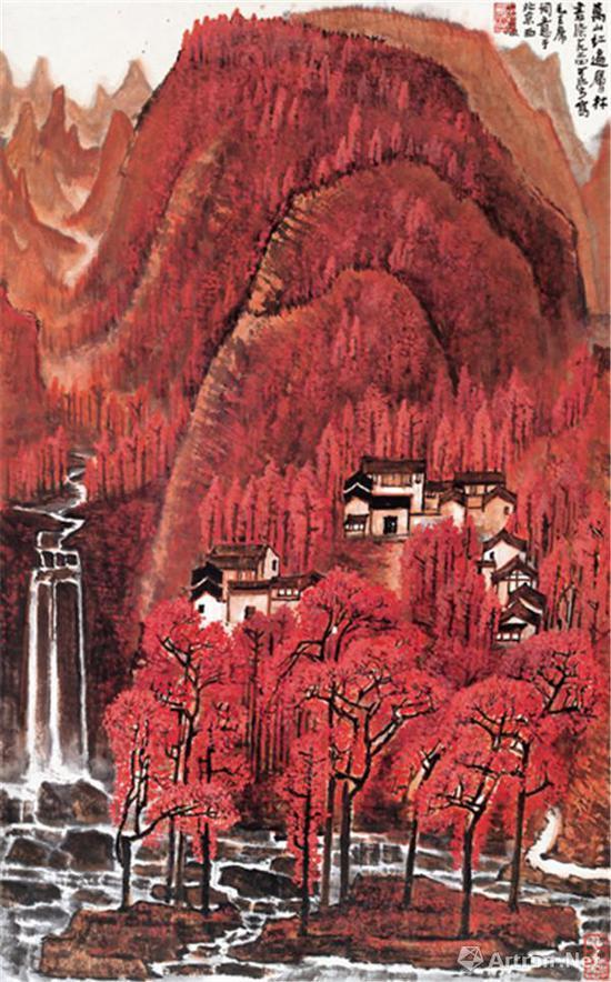 李可染《万山红遍》79.5x49cm 1964年