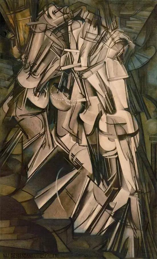 《下楼梯的裸女》 1912