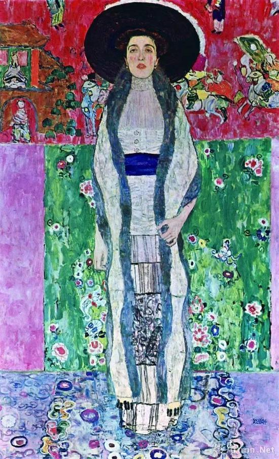 克里姆特《阿黛尔·布洛赫·鲍尔肖像二号》2016年以1.5亿美金被中国藏家私洽购得