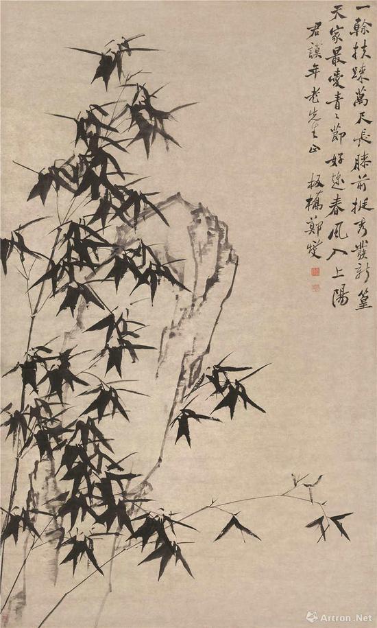 郑燮 《竹石图》 纸本水墨