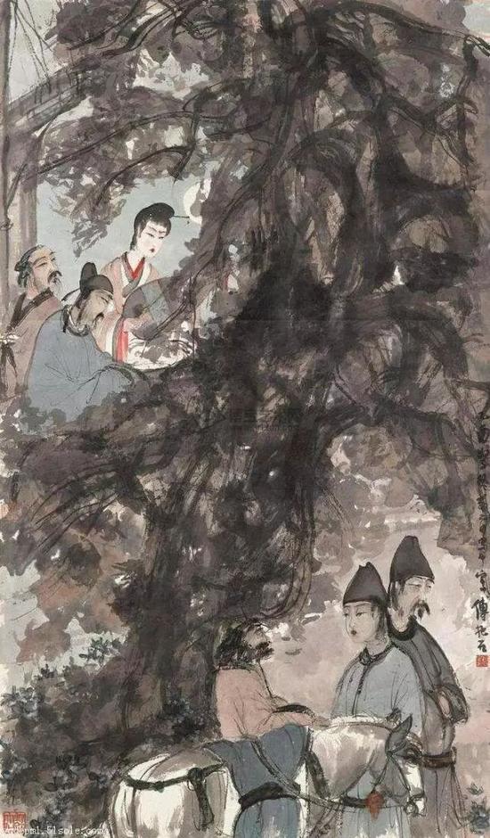 孔祥熙家族旧藏傅抱石《琵琶行》2.04亿港元成交