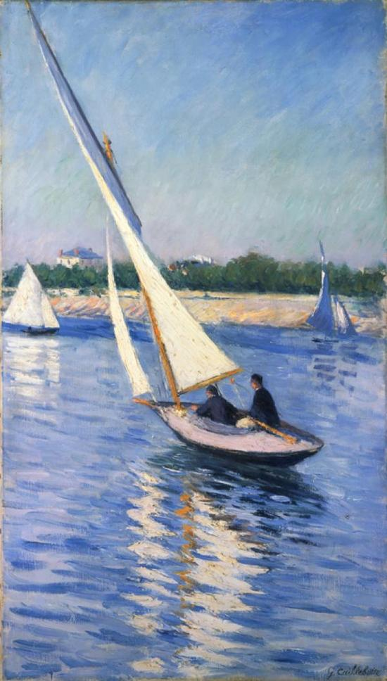 《Sailboats on the Seine at Argenteuil》, 卡耶博特, 1893年