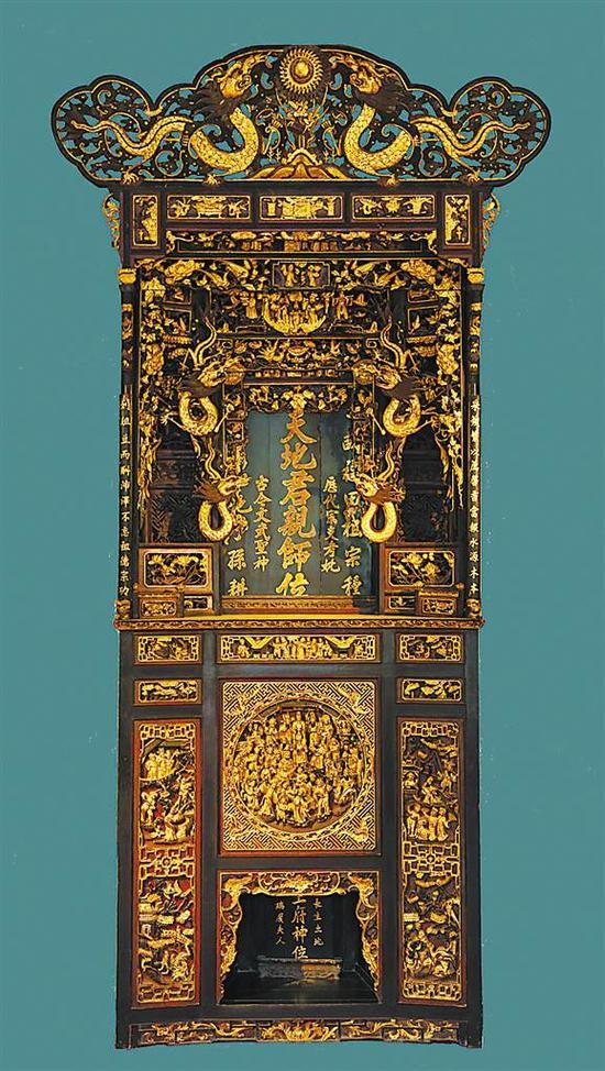 清金木雕神龛