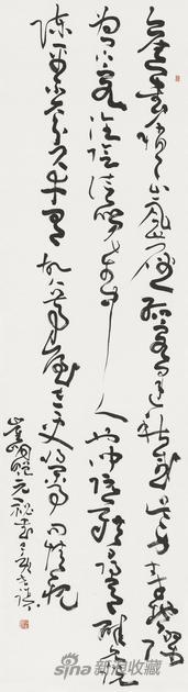崔峒《赠元秘书》 材料:水墨宣纸 尺寸:48X180cm 2019年